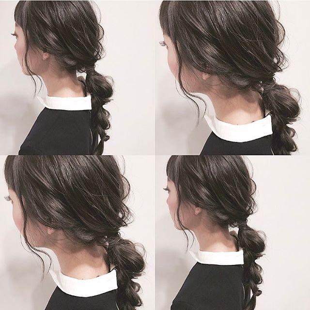黒髪ロングヘア66