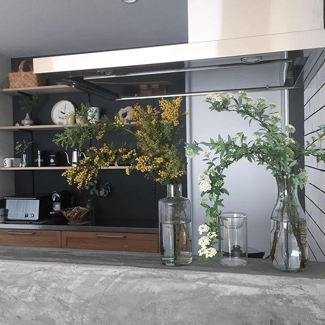 キッチンカウンター横