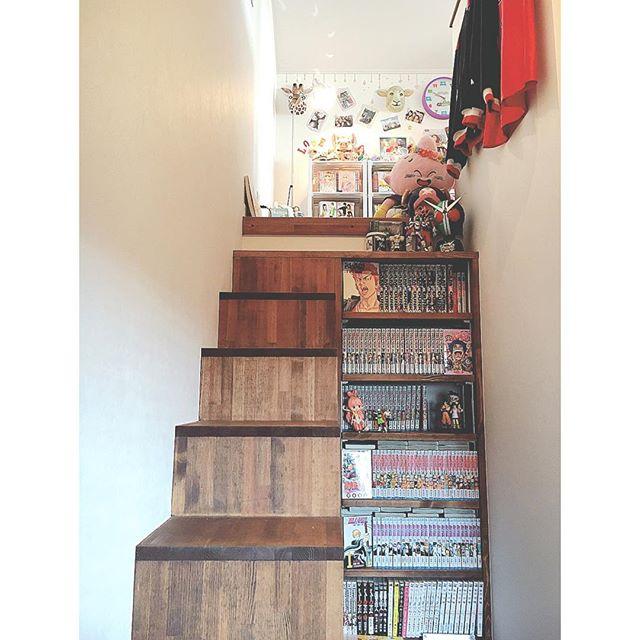 階段横を活用