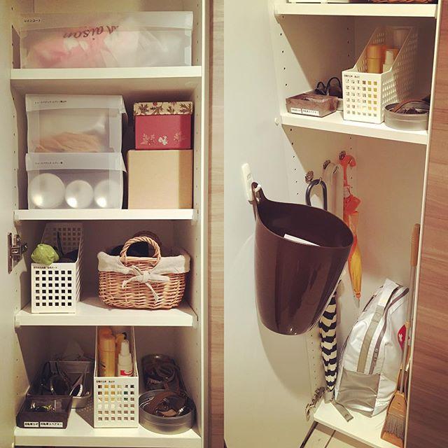 玄関のゴチャゴチャ感を解消したい!お掃除グッズや傘をすっきり隠す収納方法