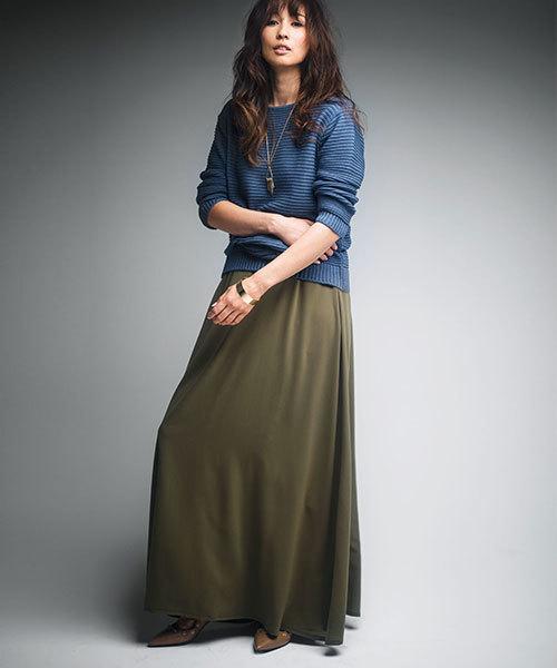 日本製フレアーマキシスカート
