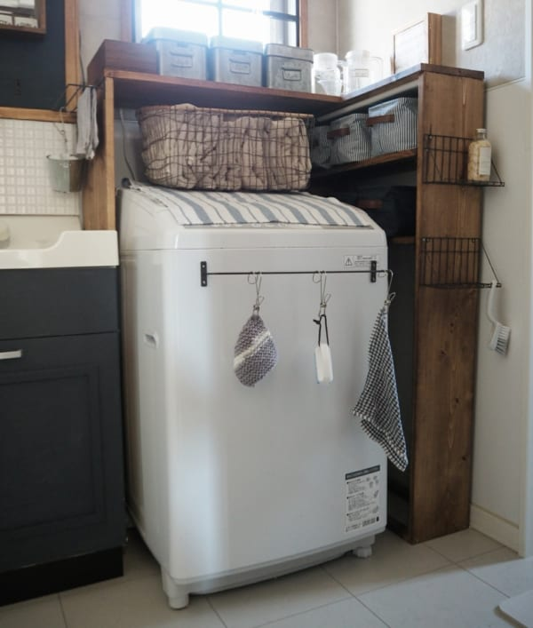洗濯機周りの収納