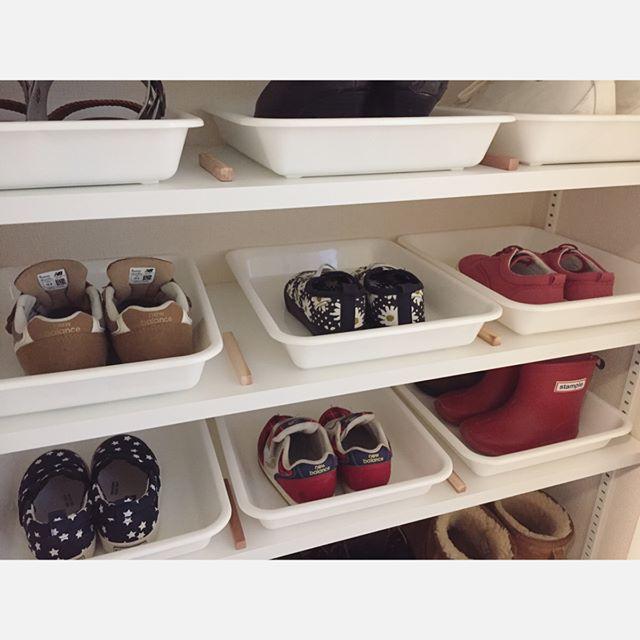 普段使いの靴もトレーやボックスにイン2