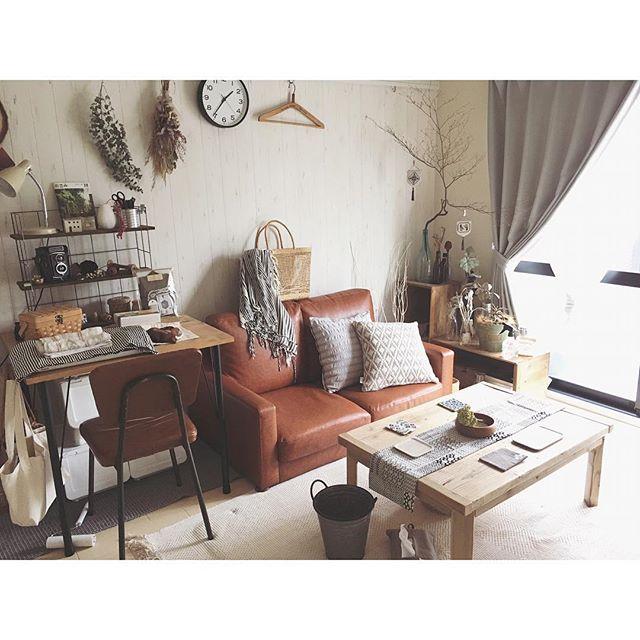革張りのソファはおしゃれなお部屋にぴったり3