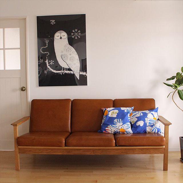 革張りのソファはおしゃれなお部屋にぴったり