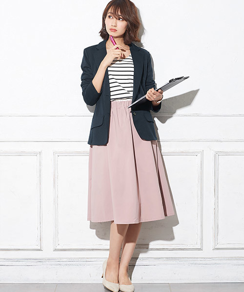 【CLASSY.5月号掲載】ポンチ素材テーラードジャケット