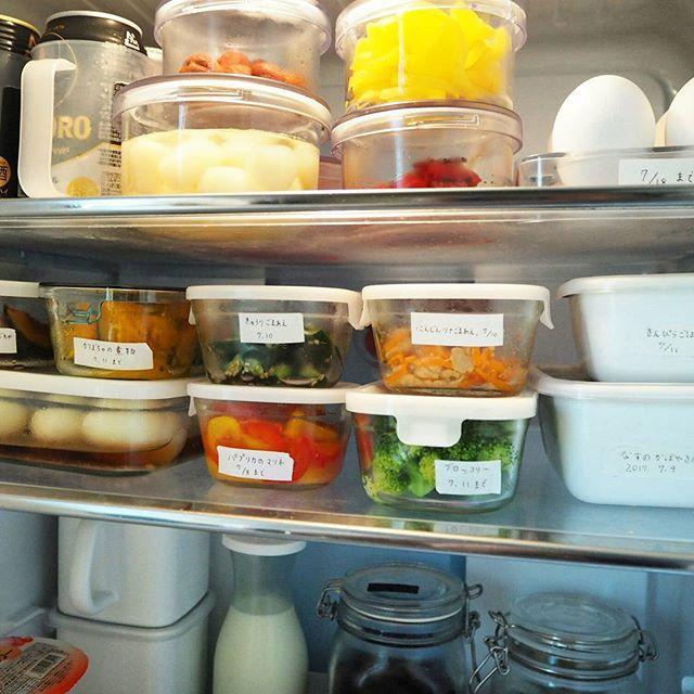 スッキリ冷蔵庫収納例