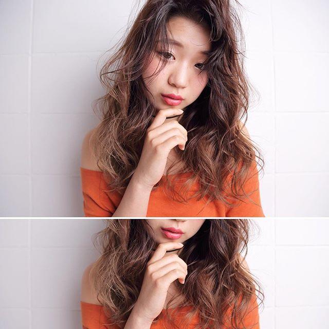 デジタル前髪パーマ