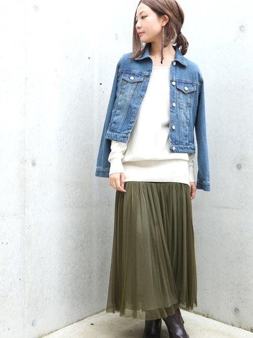 """出典:zozo.jp [osharewalker] こんな大人め丈のチュールスカートが欲しかった! 今、注目の""""チュールレーススカート"""""""