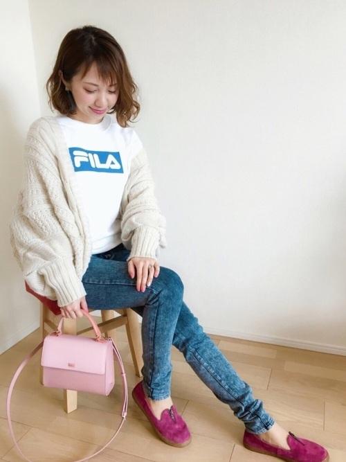 FILA/フィラ 別注ロゴデザイン トレーナー