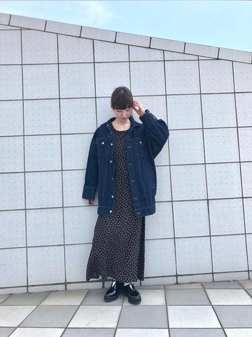 [Kastane] 小花柄リボンワンピース