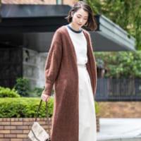 肌寒い秋にぴったり♪大人女子の【ニットガウン】コーデ15選!