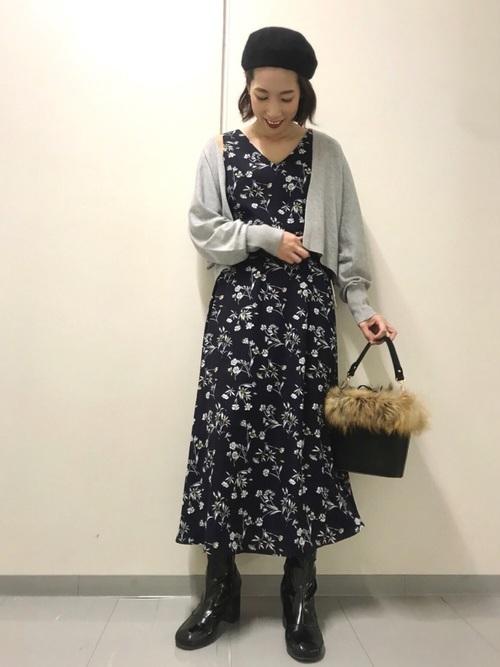 [Andemiu] ハナガラノースリーブワンピース813501