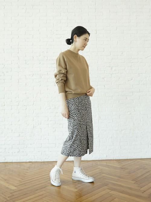 [DRESSTERIOR] レオパードジャガード ストレートロングスカート
