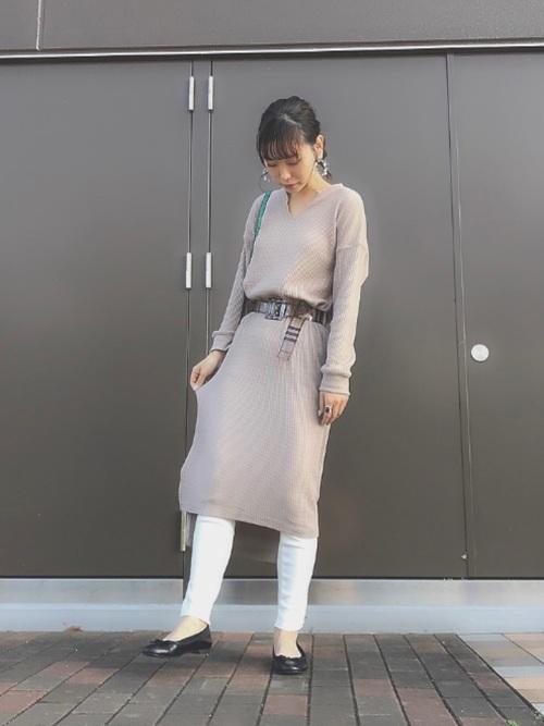 2×2リブ 裾メロウレギンス 12分丈