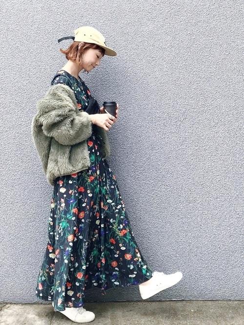 [NOISE MAKER] 【雑誌GINZA掲載商品】ボタニカル花柄ワンピース2