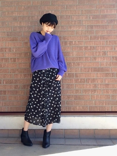 [THE SHOP TK] レトロ花柄ワンピース