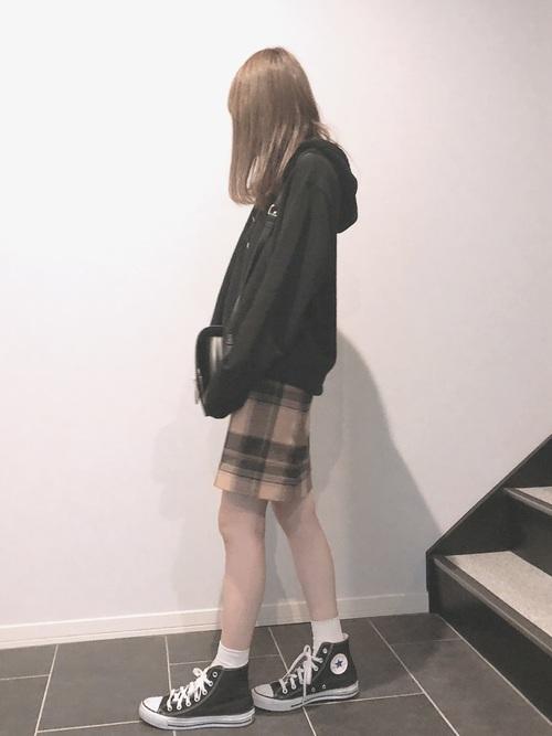 ユニクロのスカートでフェミニンコーデ5
