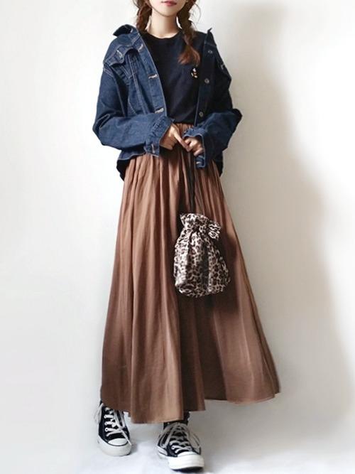 コーデが華やぐロングスカート