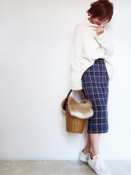 秋冬に欠かせないチェック柄スカート3