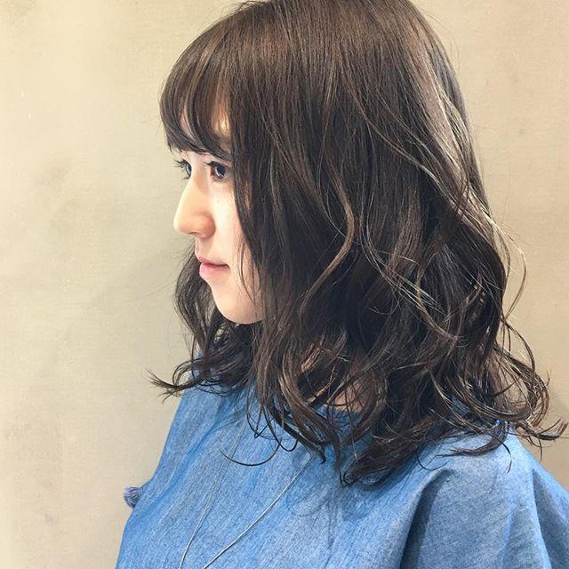 モテを意識した地毛風暗髪スタイル特集6