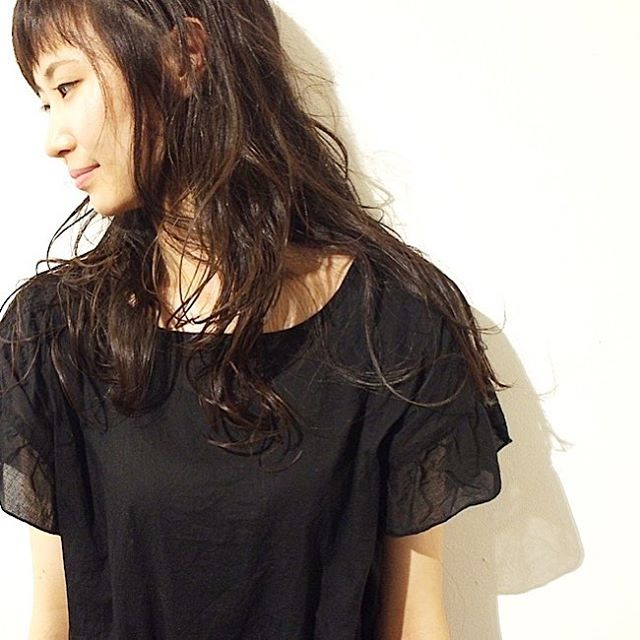 黒髪ロングヘア77
