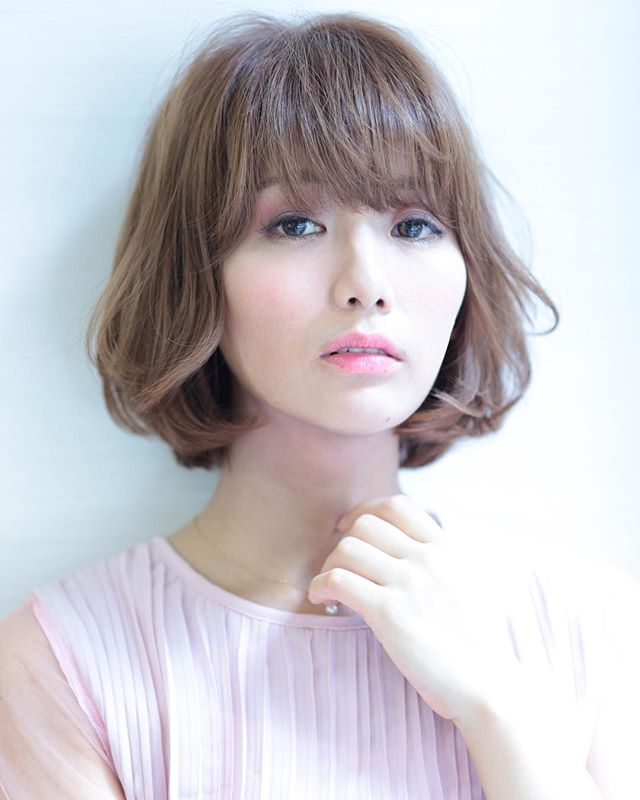 芸能人・モデル風のぱっつん前髪6