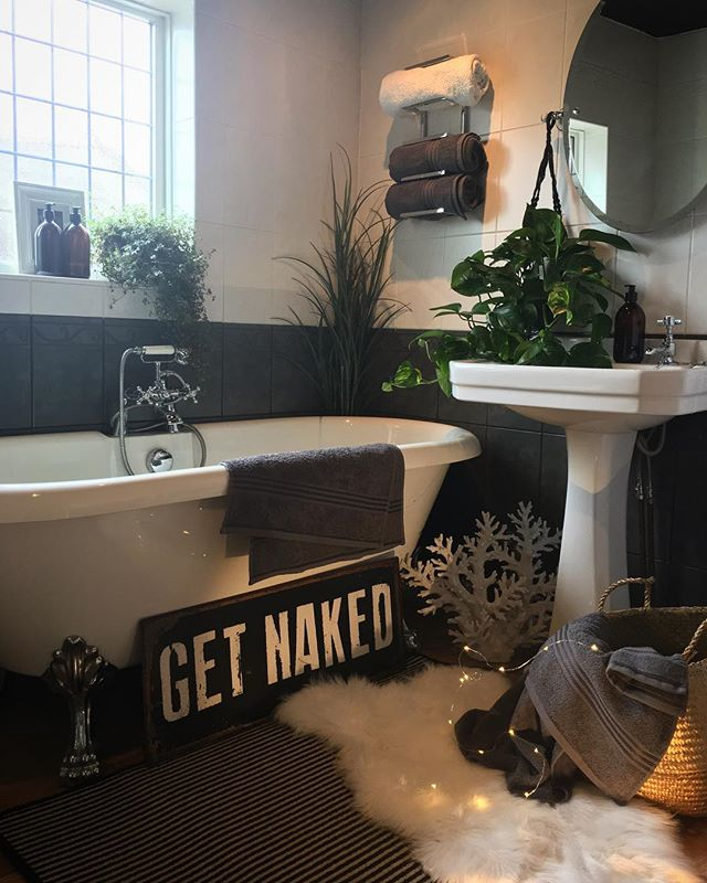 グリーンを取り入れた自然派バスルーム2