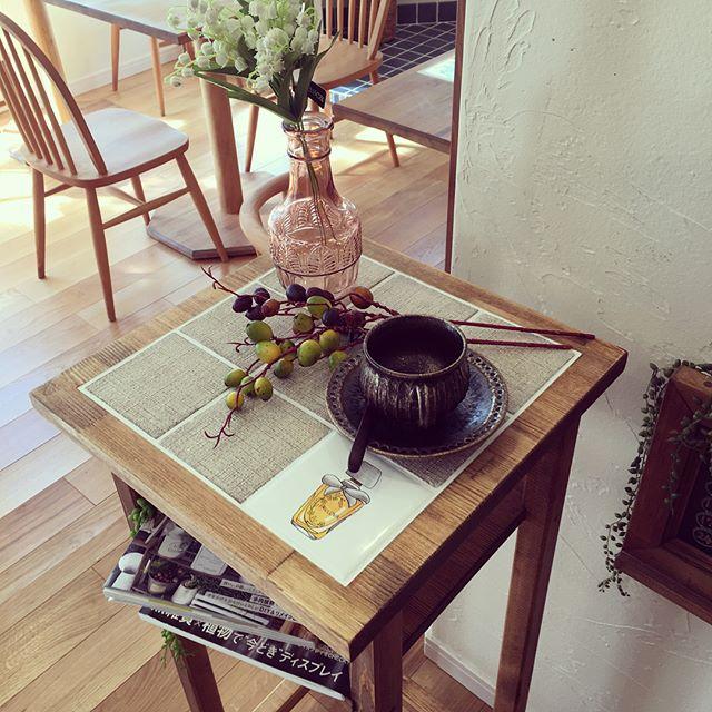 オシャレなサイドテーブルを紹介★15