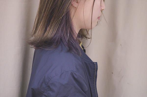 紫系のインナーカラー5