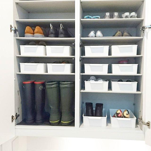 普段使いの靴もトレーやボックスにイン