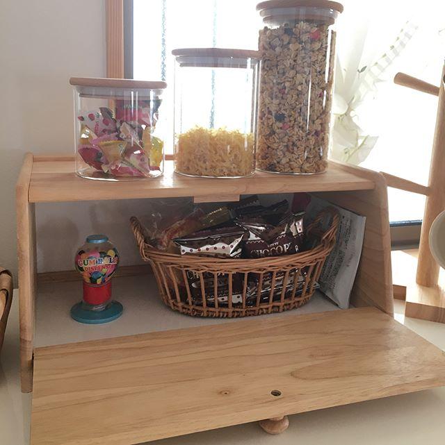 木製ガラスキャニスター