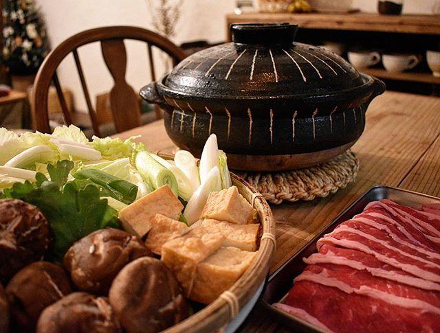 土鍋ですき焼き