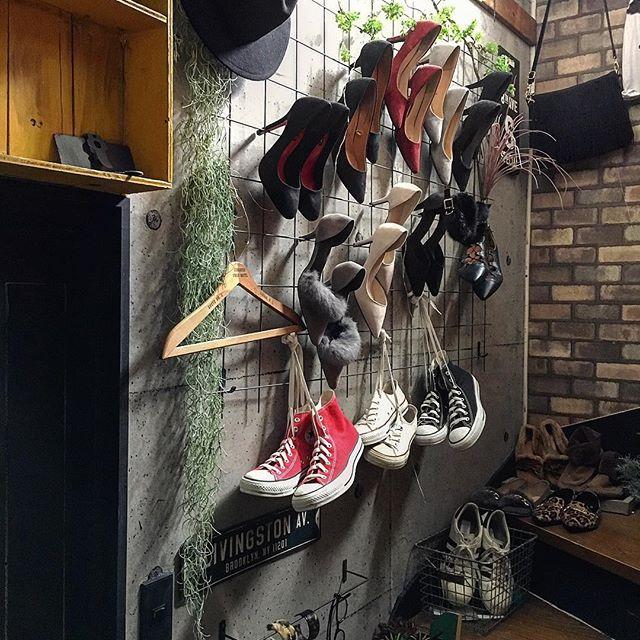 靴も壁面収納で