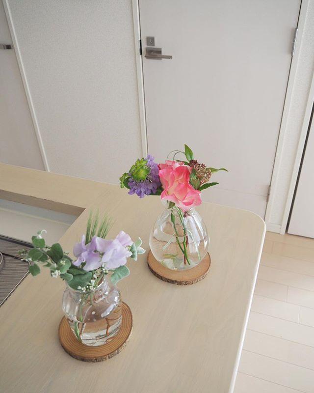 花をもらった時2