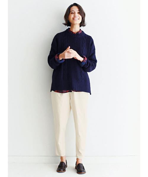 [FELISSIMO] and myera 賢く見えるセーター/ニット
