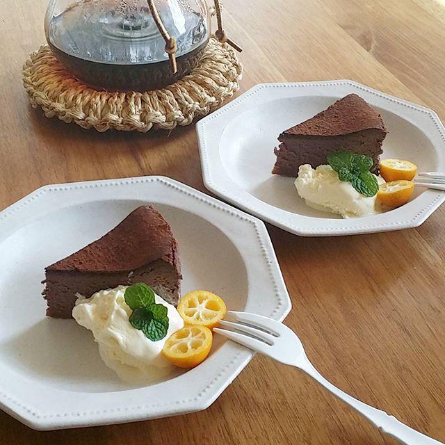 ケーキ皿にも