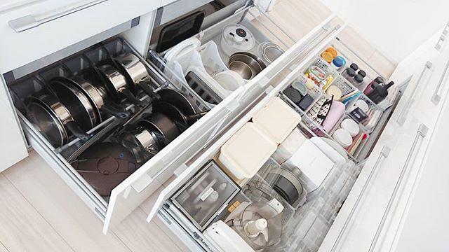調理器具、食器の収納は引き出しに入れてスッキリと5