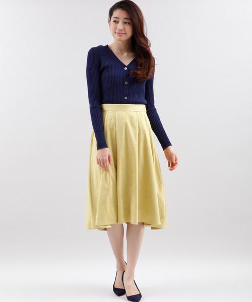 フェイクスウェードふんわりスカート