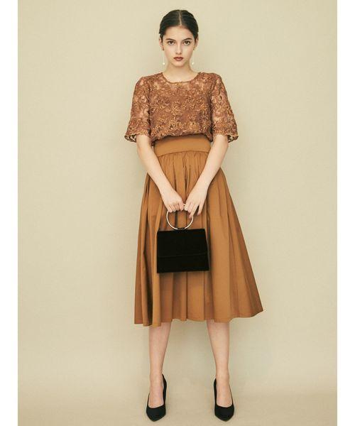 LADYオーバーレースギャザードレス