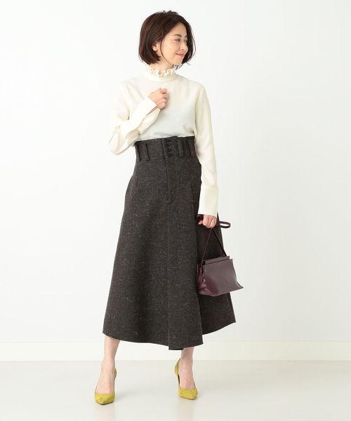 ツイード パッチポケット スカート
