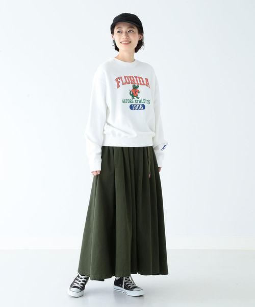 [BEAMS WOMEN] GRAMICCI / 別注 チノ ロングスカート