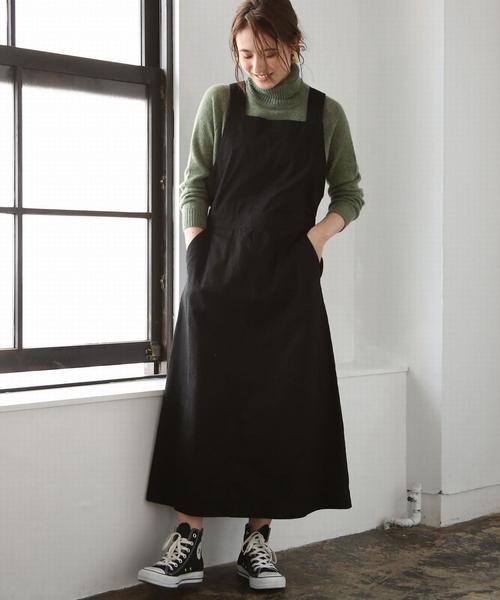 ライトチノサロペットスカート ( ジャンパースカート )