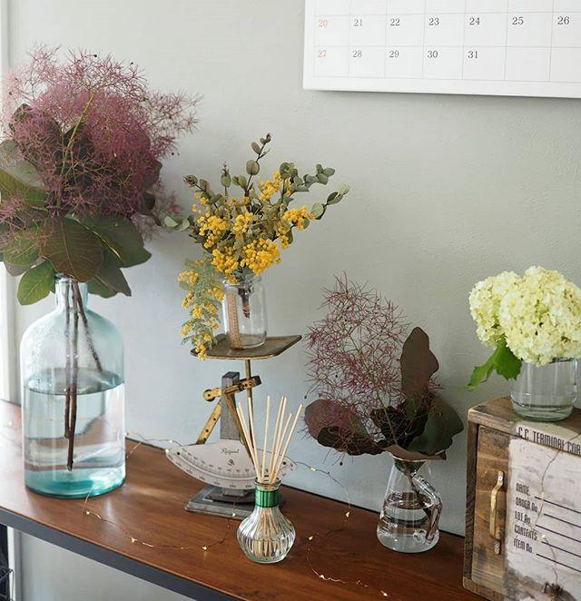 イエローカラーの花で癒しの空間2