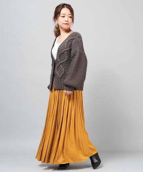 [CIAOPANIC] サテンプリーツスカート/新色