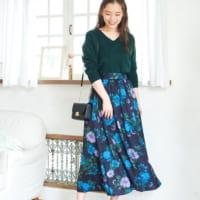 ALL6,000円以下でGETする「花柄スカート」☆秋のフェミニンコーデ集
