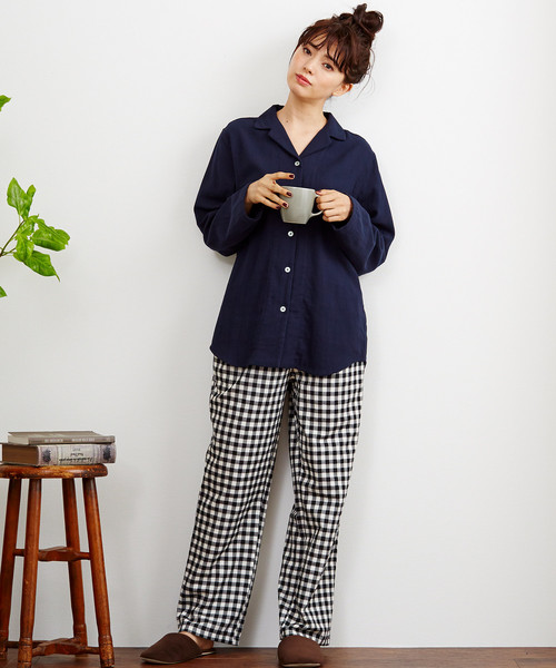 ダブルガーゼのパジャマ/ルームウェア