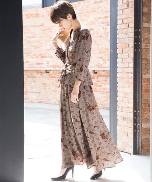 [Ranan] プリントロングフレアースカート