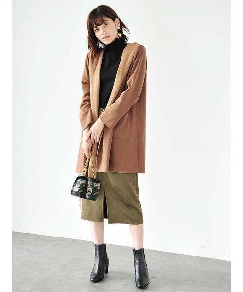フェイクスエードポケットスカート