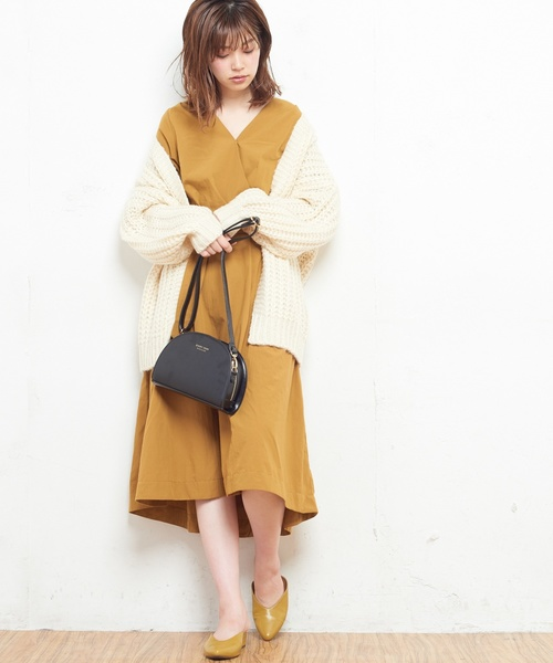 [natural couture] NEWカシュクールワンピース